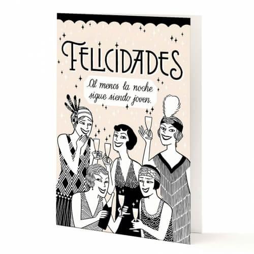 "Tarjeta A5 ""Felicidades"" de Divas de Divá‡n"