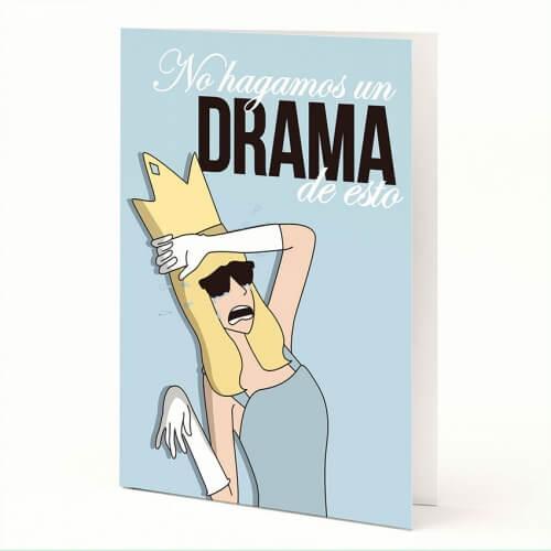 "Tarjeta A5 ""Drama"" de Moderna de Pueblo"