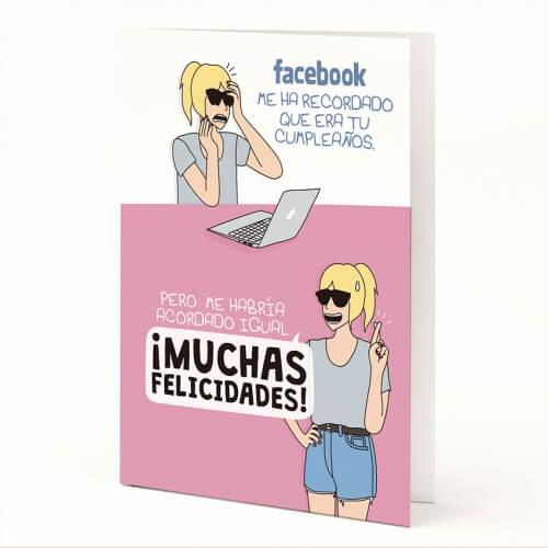 """Tarjeta A5 """"Facebook"""" de Moderna de Pueblo"""