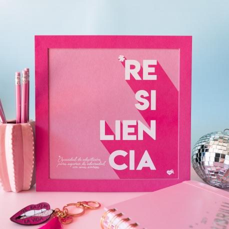 "Lámina 24,5x24,5 cm ""Resiliencia"" de La Vecina Rubia"