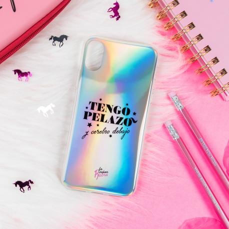 "Carcasa iridiscente iPhone X/XS ""Pelazo"" de La Vecina Rubia"