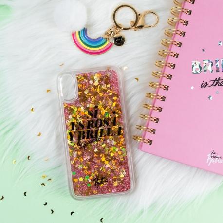 """Carcasa iPhone XR """"Si es rosa y brilla lo quiero"""" de La Vecina Rubia"""