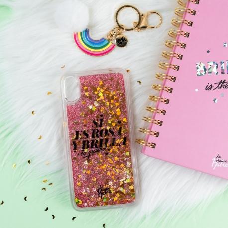 """Carcasa iPhone Xs Max """"Si es rosa y brilla lo quiero"""" de La Vecina Rubia"""