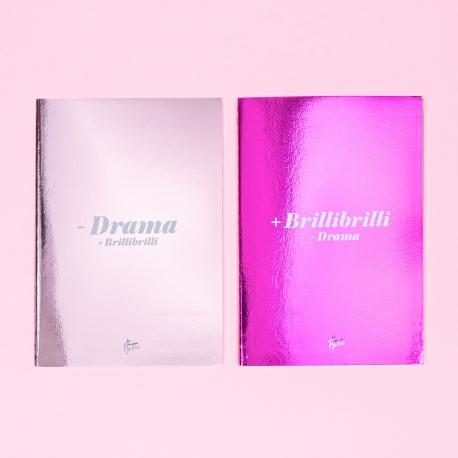 Pack 2 cuadernos cosidos metalizados de La Vecina Rubia