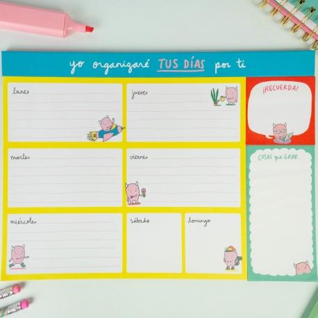 """Organizador """"Yo organizaré tus días por tí"""" de Lyona"""