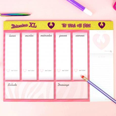 "Organizador ""tu vida on fire"" de Dianina XL"