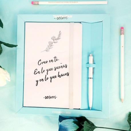 """Pack Cuaderno + bolígrafo """"Creo en ti"""" de Defreds"""