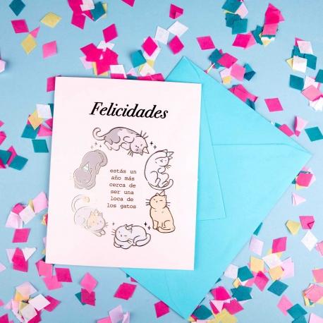 Tarjeta felicitación de Croqueta y Empanadilla