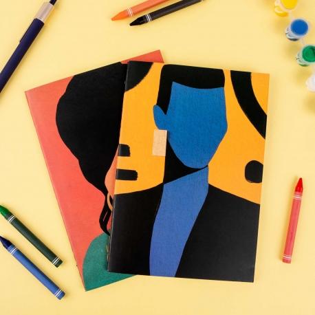 Pack 2 cuadernos cosidos de Coco Dávez