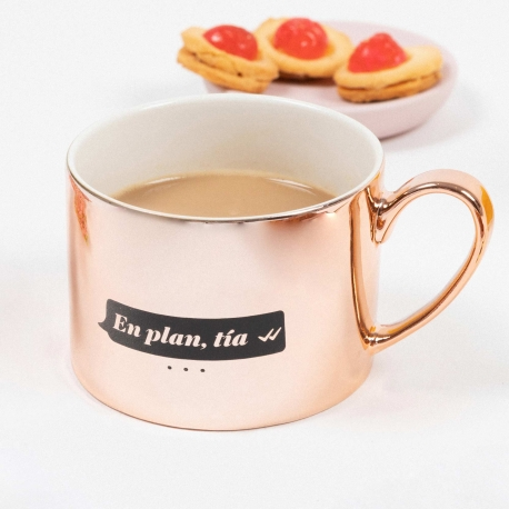 Taza de café La Vecina Rubia: En plan tía