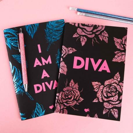 Pack 2 cuadernos cosidos Rosas y plumas La Vecina Rubia